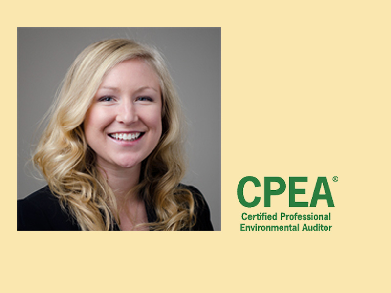 Congratulations to Katie Milk for Becoming a Certified Environmental Auditor